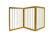CHERISH - 3 Section Solid Bamboo Wooden Folding Pet Gate - Natural