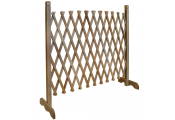 TRELLIS - Solid Wood Expanding Single Garden Screen - Brown