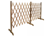 TRELLIS - Solid Wood Expanding Double Garden Screen - Brown