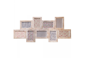 MULTI - Wall Mounted Wood 9 Photo Collage Frame - Bleached Wood