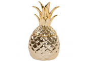 PINEAPPLE - Fruit Shaped Trinket Storage Box with Lid - Gold