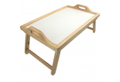 LAP - Solid Wood Breakfast in Bed / Laptop / TV Dinner Tray - Natural / White