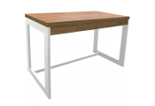 FUNDA - Office Workstation / Computer Desk with Drawer - Oak / White