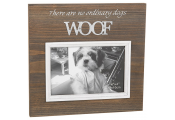 WOOF - Wood Square 6 x4 Photo Frame - There Are No Ordinary Dogs - Brown