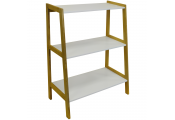 LEAN - Slimline Ladder 3 Tier Wide Freestanding Storage Shelves - White