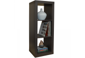 CUBE - 3 Cubby Square Display Shelves / Vinyl LP Record Storage - Walnut