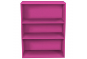 BRIGHT - 3ft High 3 Tier Childrens Storage Shelves - Pink