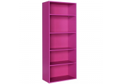 BRIGHT - 5.7ft High 5 Tier Childrens Storage Shelves - Pink
