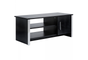 COLUMN - Modern TV Stand / Entertainment Unit - Black Ash / Chrome