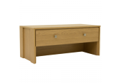 BURDON - Compact Modern Coffee Table with Storage Drawer - Oak