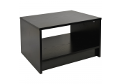 REFINE - Sleek Open End / Side / Bedside Table - Black Ash