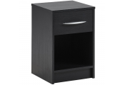 JAMES - 1 Drawer Storage Chest / Bedside Table / Nightstand - Black