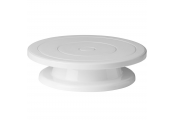 Plastic Circular 28cm / 11 inch Cake Decorating Turntable - White