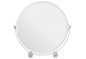 Freestanding Metal Shaving / Make Up Magnifying Mirror - White