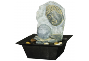 Buddha Plaque Tabletop Indoor Fountain / Water Feature with Pebbles