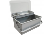 Baby Bath / Nappy Change Storage Box with Handle - Grey
