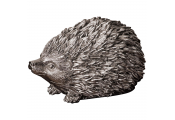 Metallic Hedgehog Ornament - Pewter