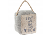 Block Door Stop - A House Is Not A Home Without A Dog