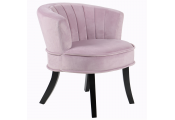 CLAM - Designer Curved Shell Back Accent Occasional Chair - Amethyst