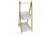 WATSONS - Kitchen / Bathroom Two Tier Storage Unit - White / Natural