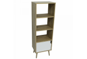 WATSONS - Tall Bookcase With Cupboard - Oak / White