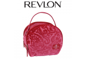 REVLON - Couture Oval Organiser Bag - Pink Velour