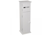 AMERICAN COTTAGE - Shaker Toilet Roll Holder / Storage Cupboard - White