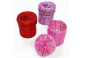 BEAD - Set of 3 Mini 5.6cm Gift / Storage Boxes - Pink / Purple / Red