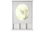 NEW ENGLAND - Mirrored Bathroom Wall Storage Cabinet with Shelf - White