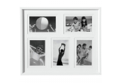 COLLAGE - Wall Mounted Photo Frame - with Five 6 x 4 Apertures - White