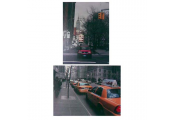 NEW YORK -  USA City Street Taxi Scenes 40 x 30 cm Canvas Art Prints - Set of two
