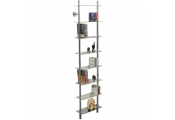 MAXWELL - Wall Mounted Glass 240 CD / 160 DVD / Bathroom Storage Shelf - Clear