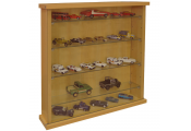 COLLECTORS - Wall Display Cabinet With Four Glass Shelves - Beech