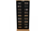 MANHATTAN - Black Glass 344 CD / 128 DVD / Blu-ray / Media Storage Shelves