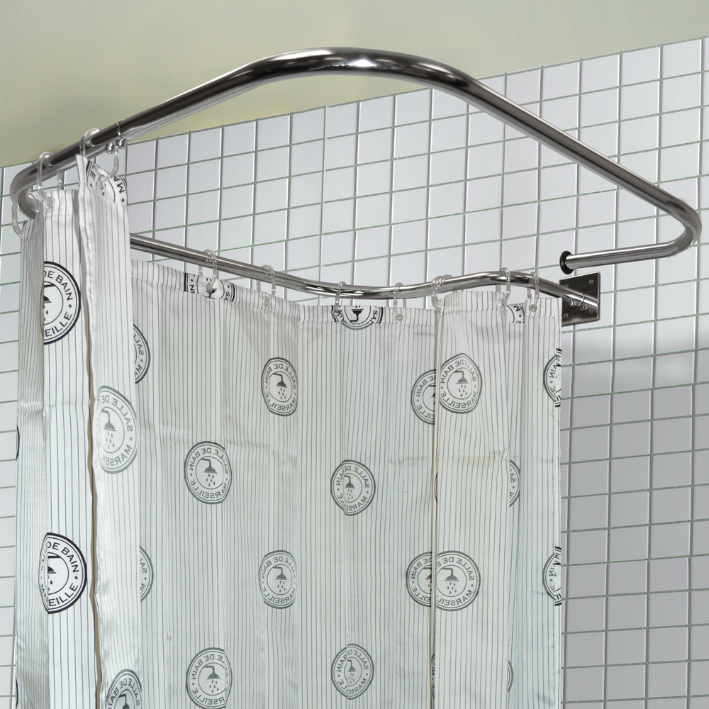 Loop Square Stainless Steel Rectangular Shower Rail And