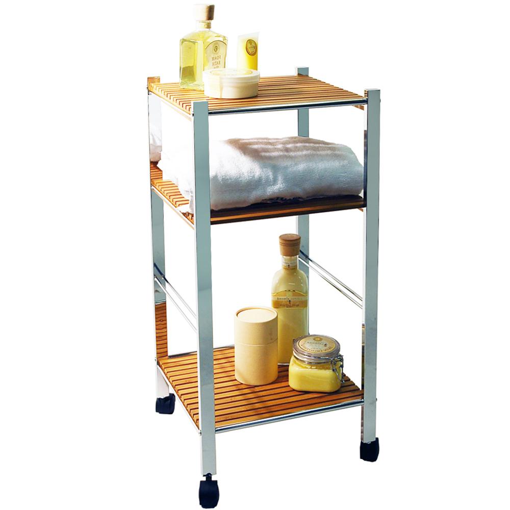 Model Bamboo Bathroom Furniture Shelf