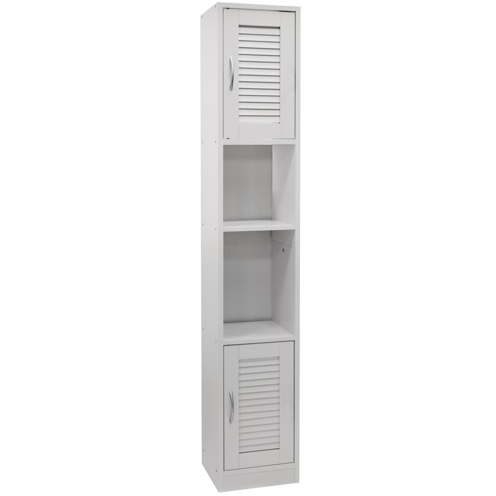 Louvre tall louvre door bathroom storage cabinet with - Tall bathroom storage cabinets with doors ...