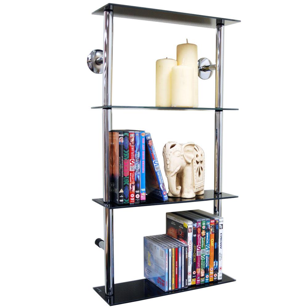 Maxwell Wall Mounted Glass 90 Cd 60 Dvd Storage