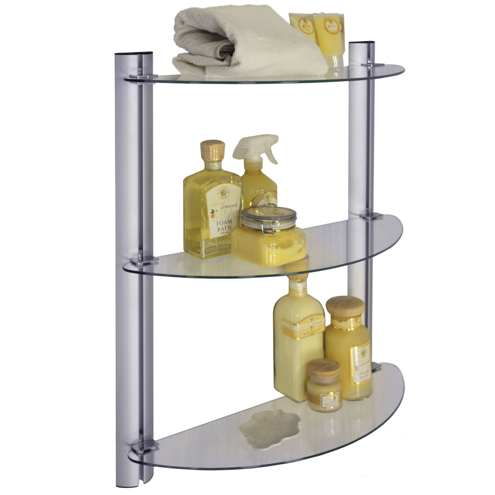 Bathroom wall shelves casual cottage for Bathroom glass shelves