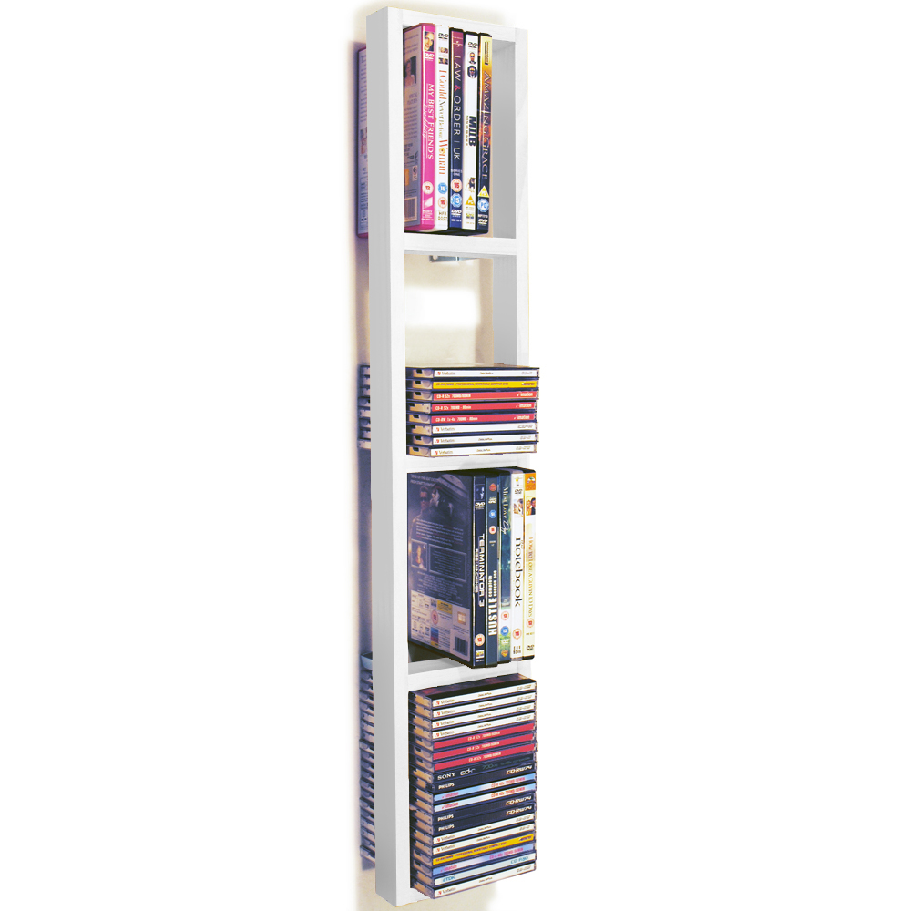 Iris wall mounted 76 cd 32 dvd blu ray storage frame In wall dvd storage