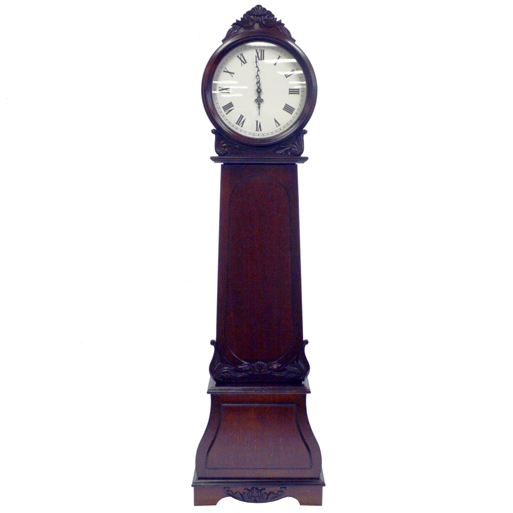 REGAL - Grandfather Clock with Chimes and Storage Shelves ...