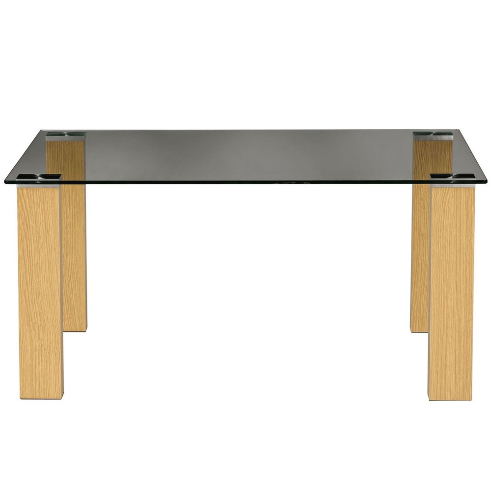 Denham Glass Top Rectangular Coffee Table Oak Watson 39 S On The Web Furniture Storage And