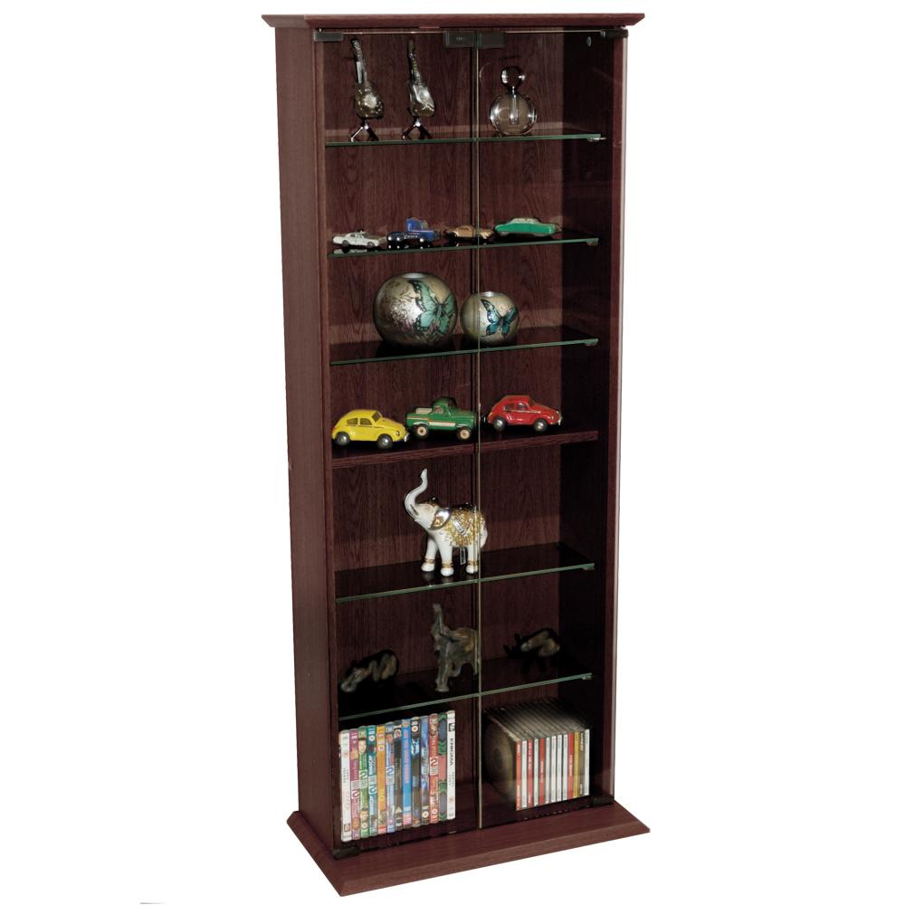 Kitchen Shelf Display: 116 DVD/ 316 CD Book Storage Shelves Glass