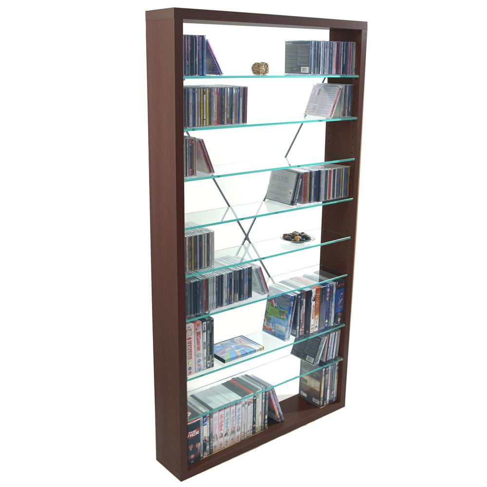 arizona 760 cd 350 dvd blu ray media glass storage. Black Bedroom Furniture Sets. Home Design Ideas