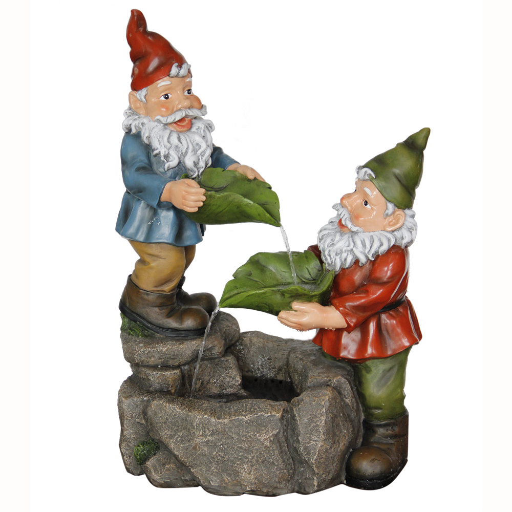 Gnomes quirky cute 2ft garden water feature fountain for Quirky ornaments uk