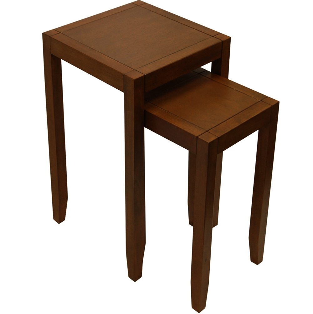 Solid Wood Nest Of Two Side / End Tables