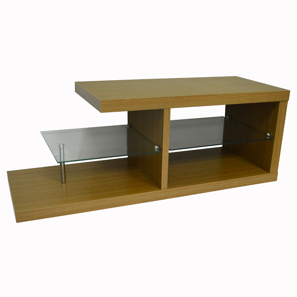 Halo chunky tv stand entertainment unit coffee table oak watson 39 s on the web Coffee table tv stand set