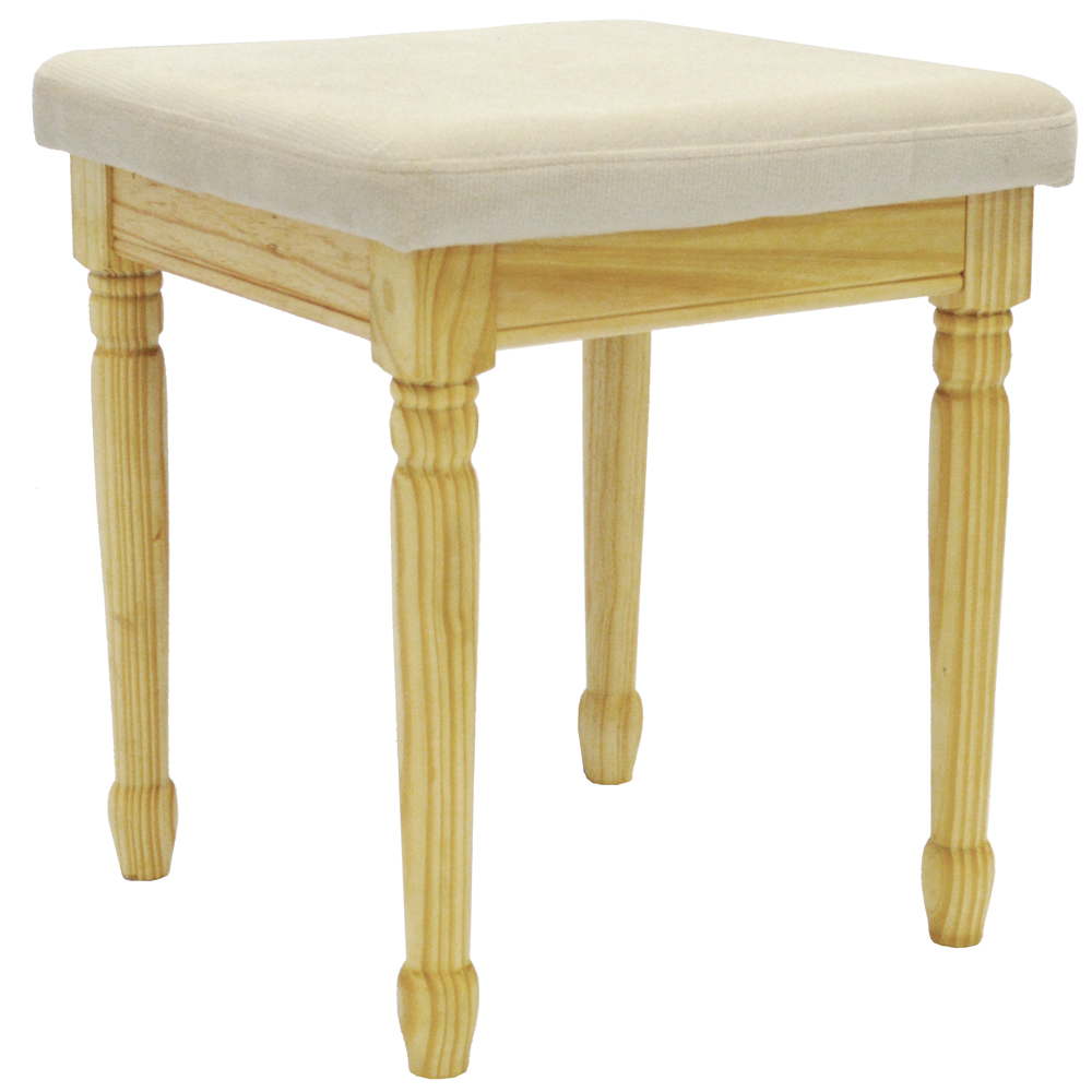 Strand solid wood dressing table stool with padded seat Dressing tables and stools