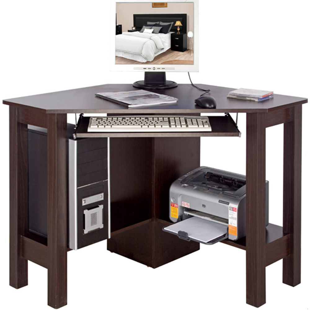 HORNER - Corner Office Desk / Computer Workstation - Walnut - Watson's