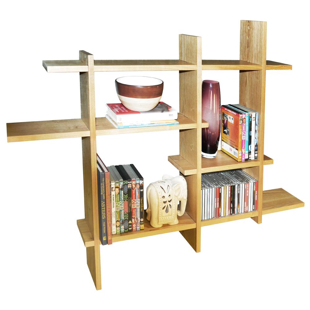 Lattice wood floating geometric retro wall display storage shelf click here to englarge image amipublicfo Images